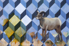 Random Access Memory – Bighorn Sheep Wildlife Painting