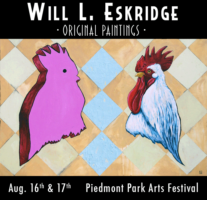 Piedmont Park Arts Festival Will Eskridge Original Paintings