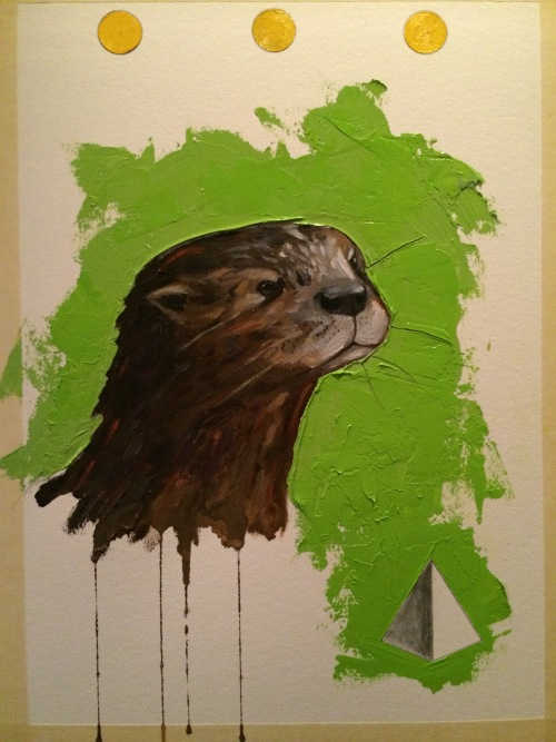 Otter Oil Painting Animal Artist Will Eskridge