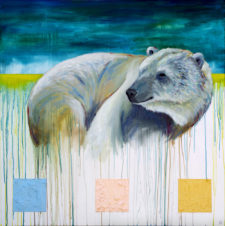 Snuggle Up, It's Going To Get Cold – Polar Bear Painting