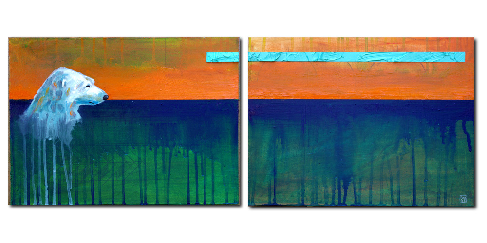 The Long Weight (diptych)