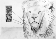 Lion's Pride Original Drawing