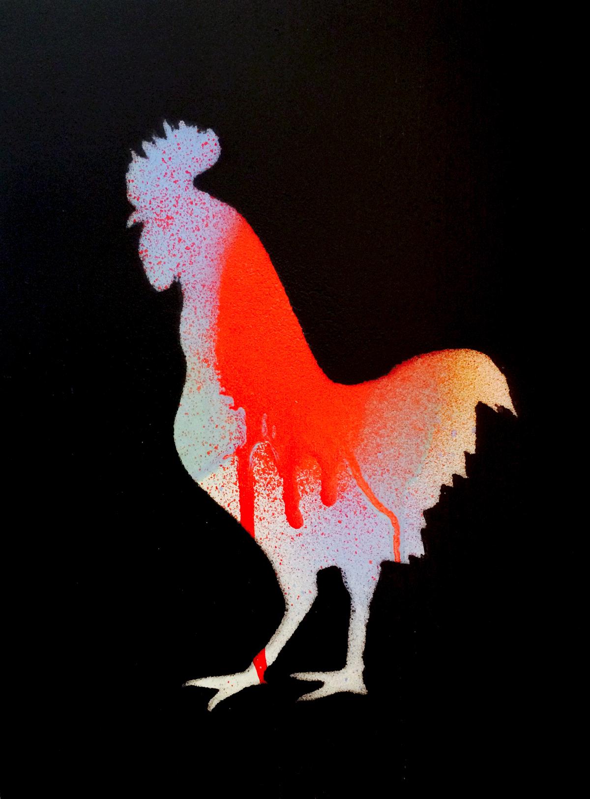 Gallus Animal Art Painting Rooster Will Eskridge