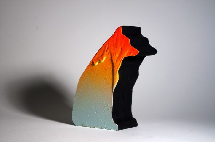 Sitting Wolf Tabletop Sculpture
