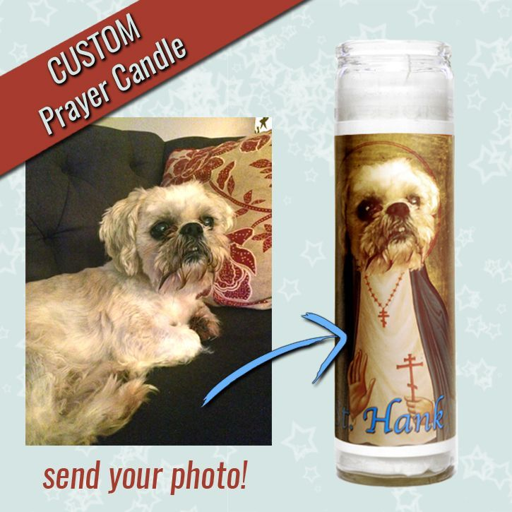 custom prayer candle animal spirit pet portrait art Will Eskridge