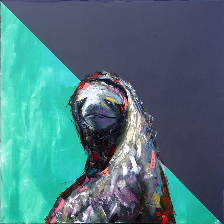 Sloth Painting Slow-and-Steady-animal-artist-art-oil-painitng-Will-Eskridge