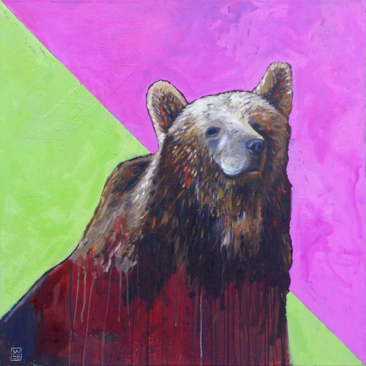 Caniformed-animal-artist-art-painting-Will-Eskridge