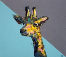 Just Out Of Reach – Giraffe Painting