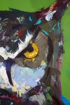 Wise Beyond His Years Animal Artist Art Painting Will Eskridge Detail