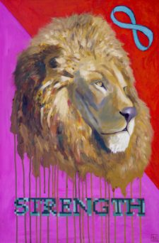 Strength – Original Lion Painting