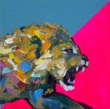 When I Am Awake – Original Lion Painting