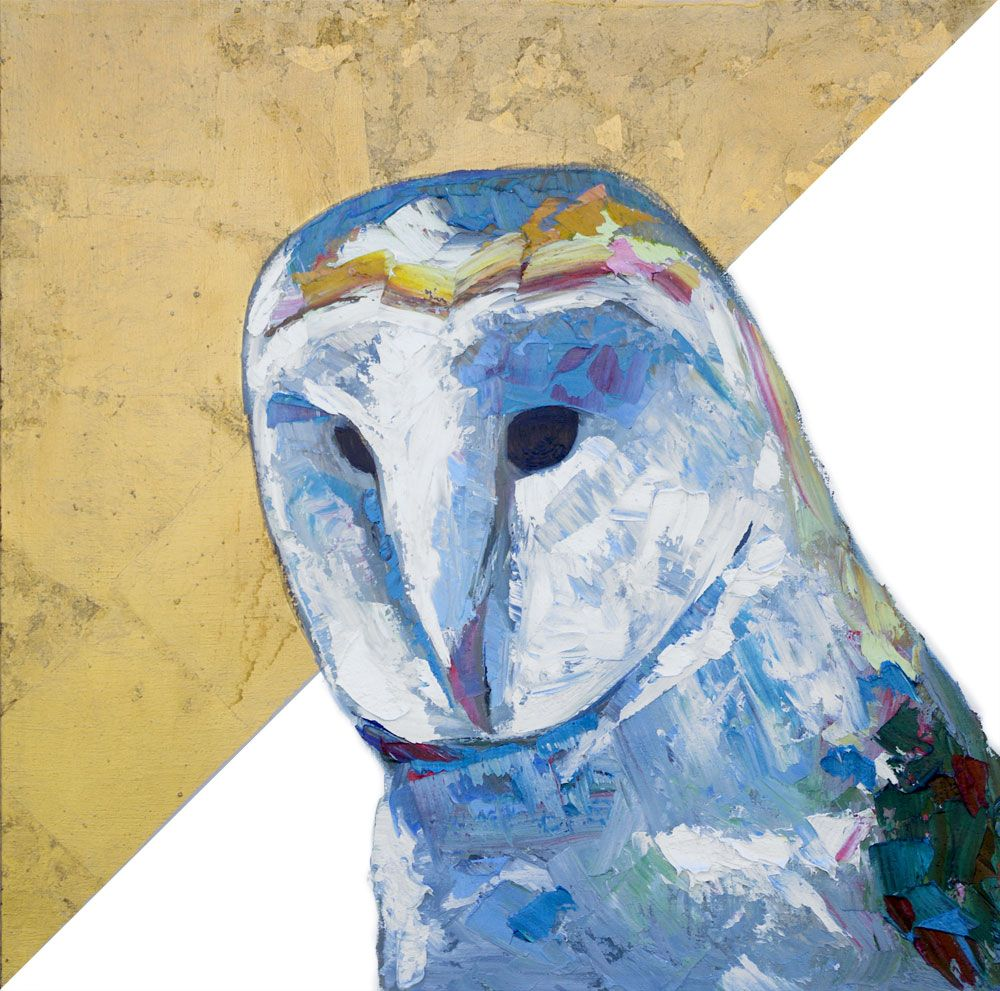 "Just A Ghost – Barn Owl Portrait Painting (As See On Netflix's ""Love Is Blind"")"