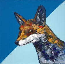 Moon And Water – Red Fox Portrait Painting