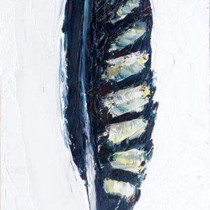 Peregrine-Falcon-Feather-animal-artist-art-painting-wildlife-Will-Eskridge