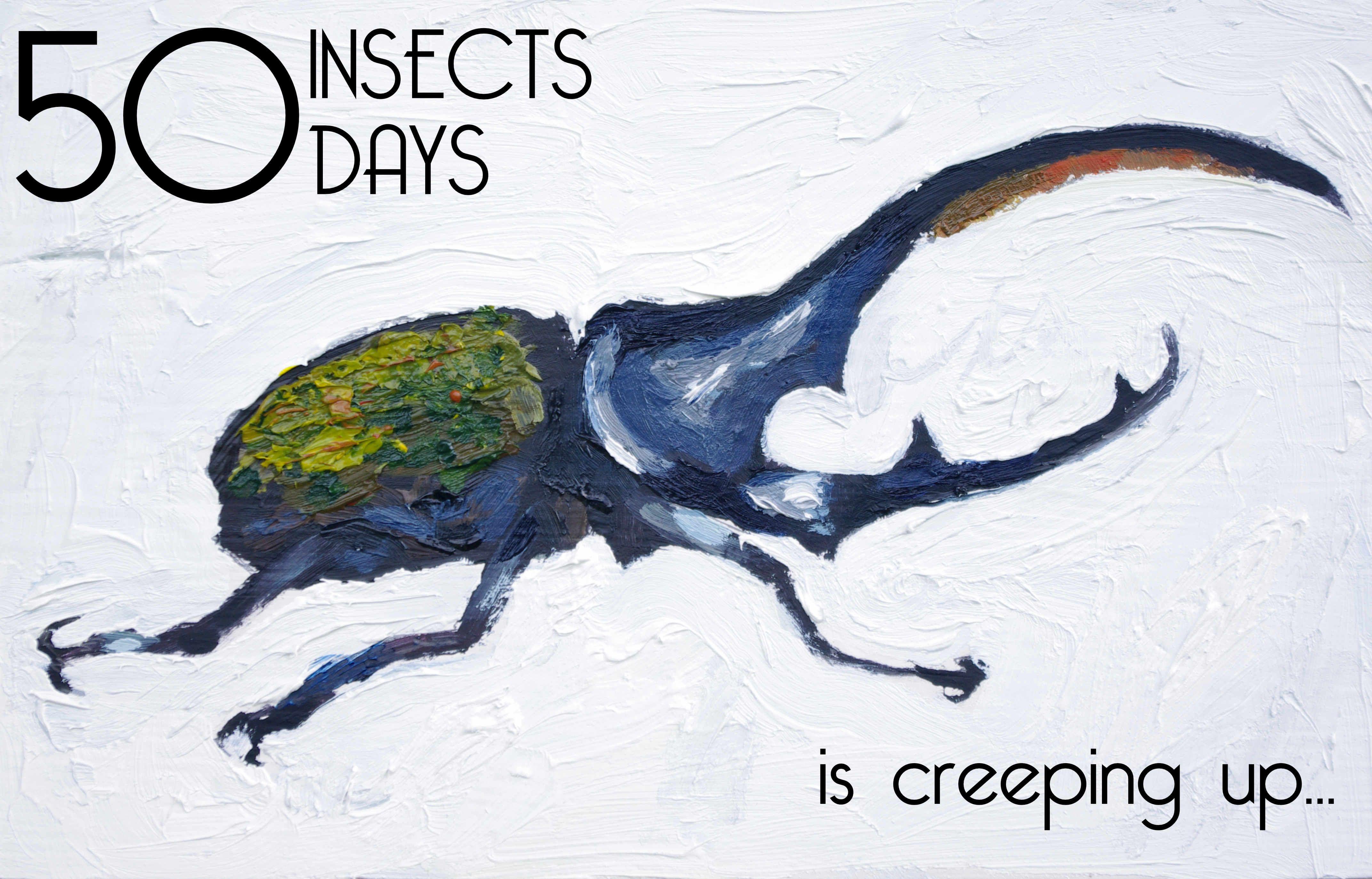 Hercules Beetle 50 insects animal artist painting wildlife art Will Eskridge