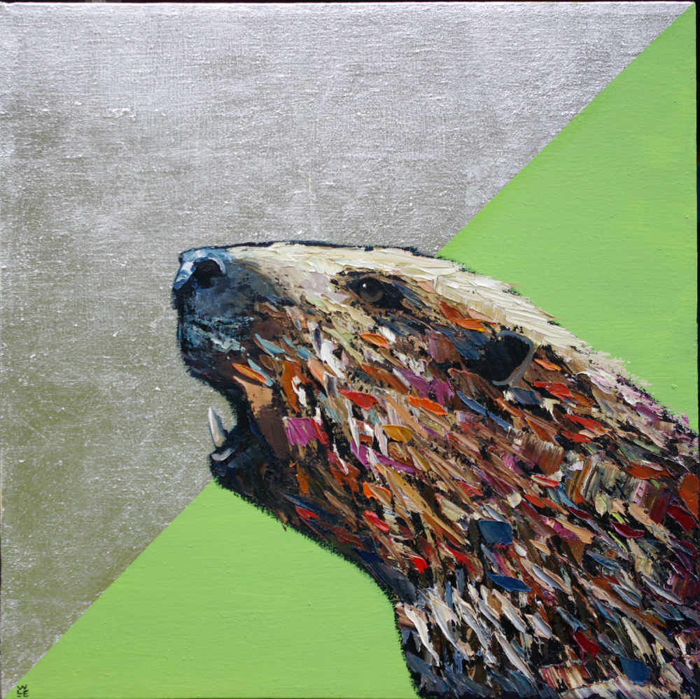 "Reengineered – Beaver Portrait Painting (As Seen On Netflix's ""Love Is Blind"")"