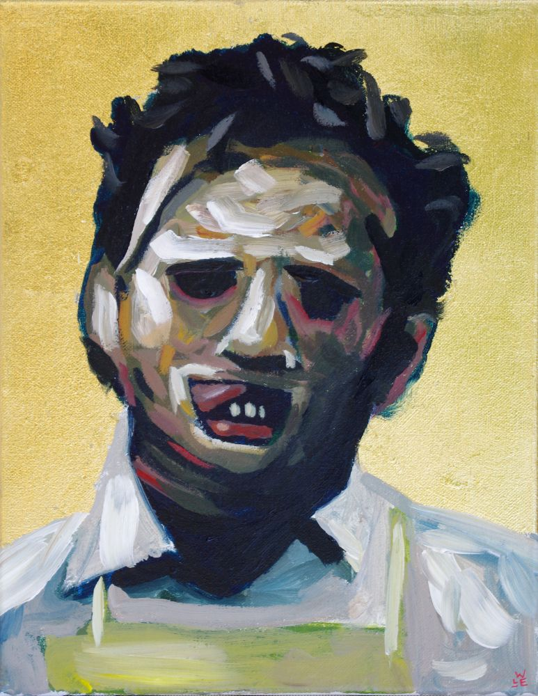 Saint Leatherface Original Painting