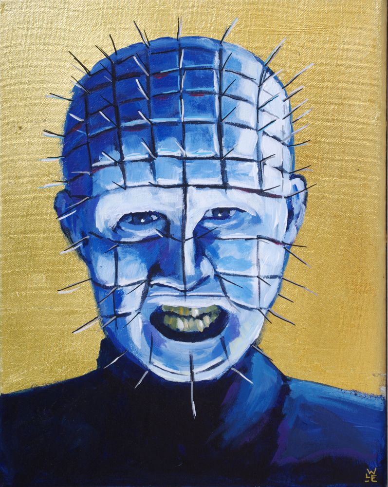 Saint Pinhead Original Painting