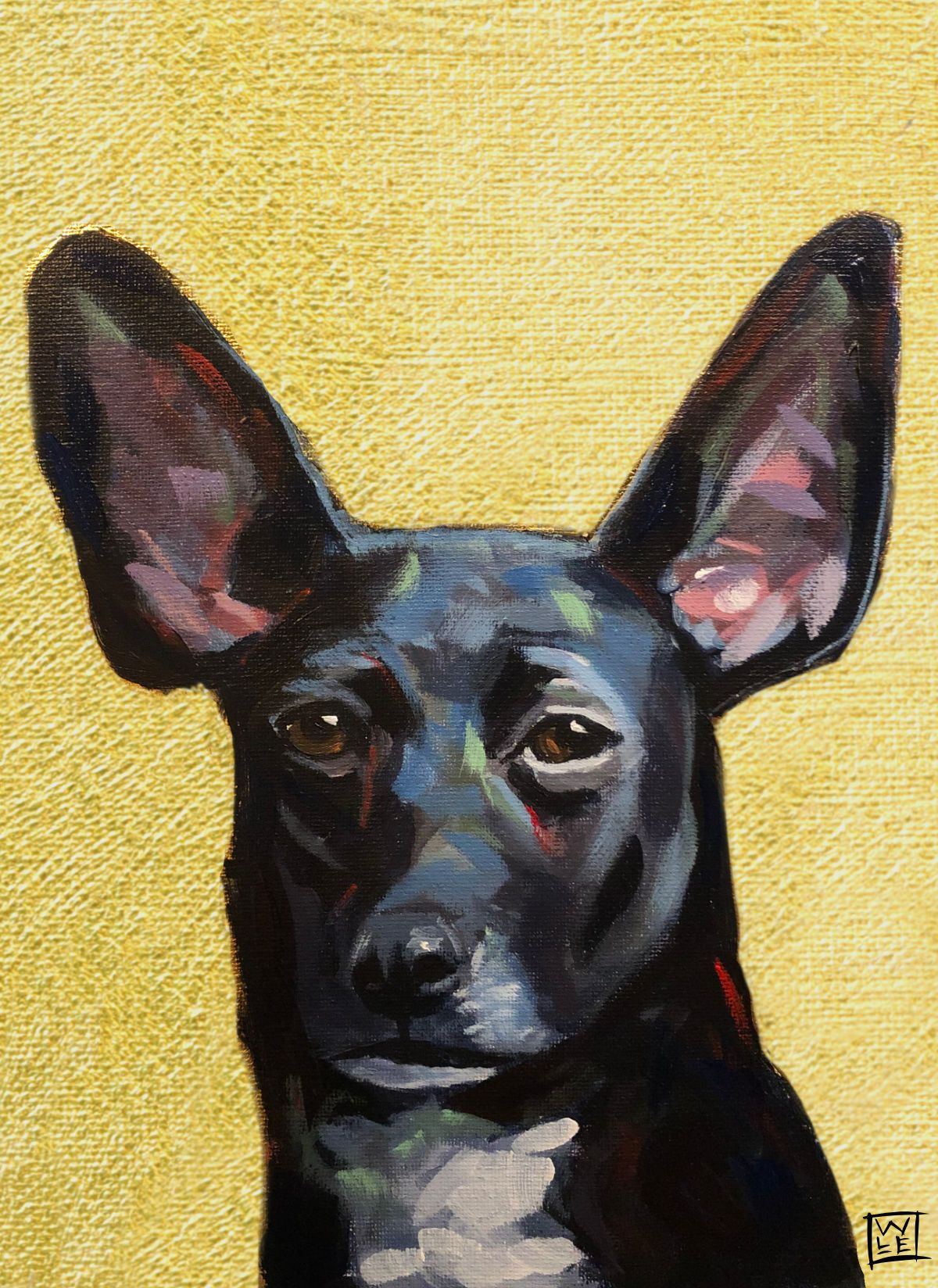 Hudson Contemporary Pet Portrait Animal Art Painting Will Eskridge Web
