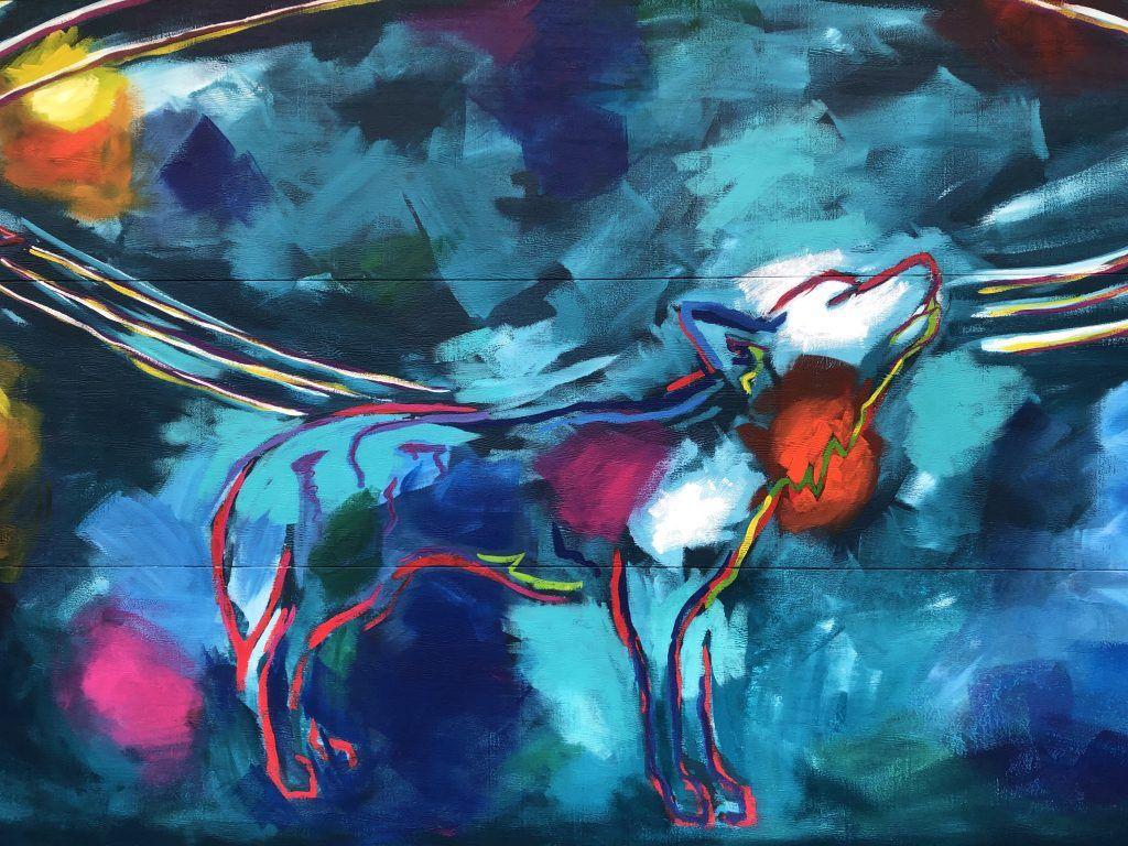 Mural muralist mural art contemporary painting wall art animal wildlife abstract Will Eskridge Athens Georgia