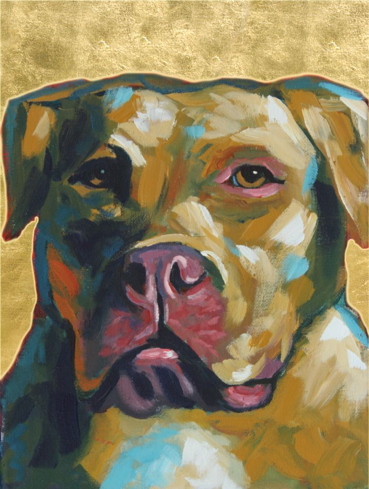 Bubba Contemporary Animal Artist Dog Pet Portrait Painting Will