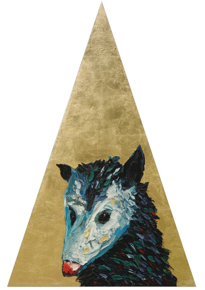 Nocturnal Phases Possum Triangle Golden Animal Art Artist Wildlife Painting Will Eskridge Athens Georgia