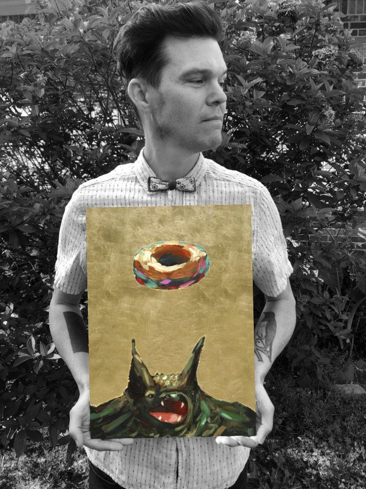 Outcast Animal Bat Advocate artist painting art artist athens georgia Will Eskridge painter